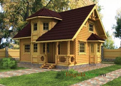 Крыша деревянного дома фото