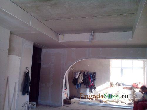 Потолок из гипсокартона своими руками как покрасить