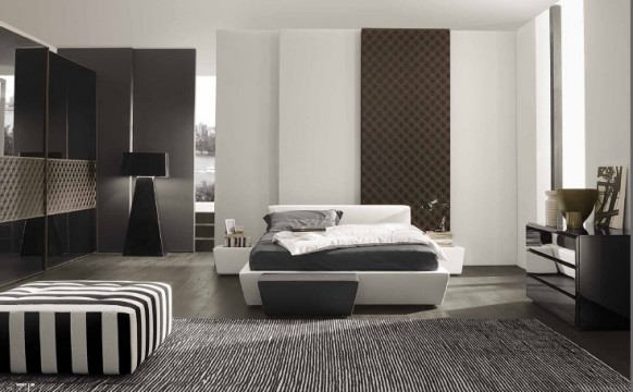 Apartment lighting bedroom: bedroom cool palette with warm accents ...