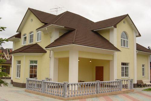 Красивая крыша дома