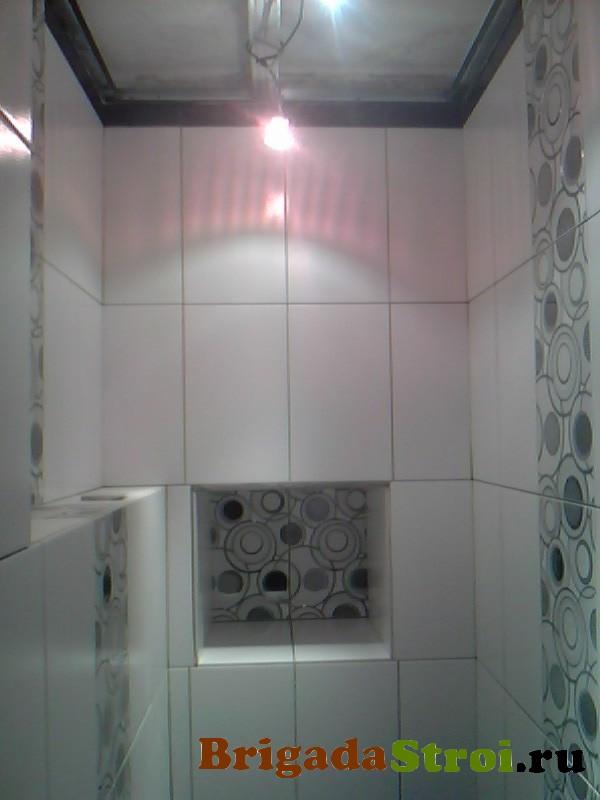 монтаж плитки в туалете