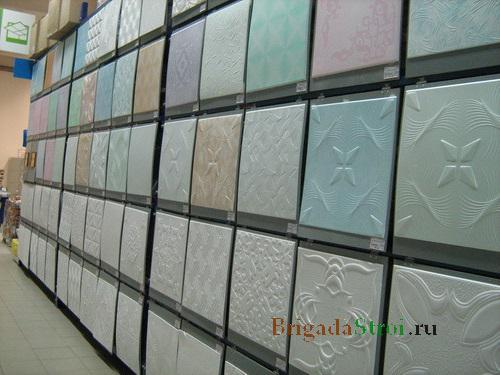 Плиты на потолок фото